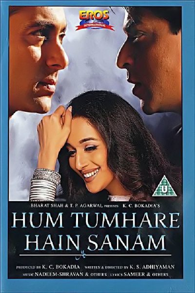 "Poster for the movie ""Hum Tumhare Hain Sanam"""