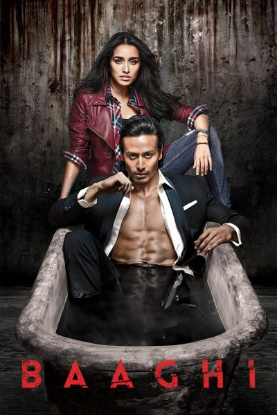 "Poster for the movie ""Baaghi"""